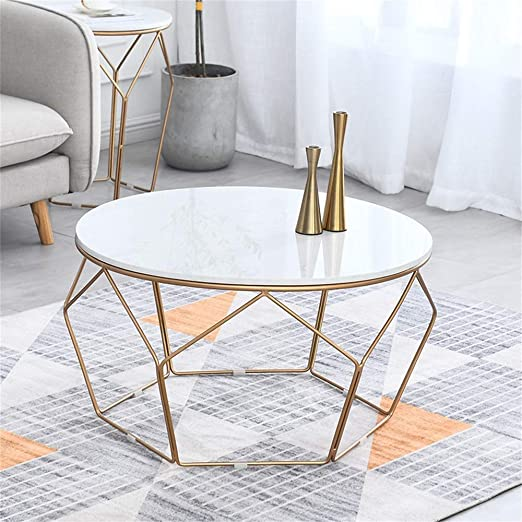 Oanzryybz Nordic Marble Coffee Table Simple Small Tea Table