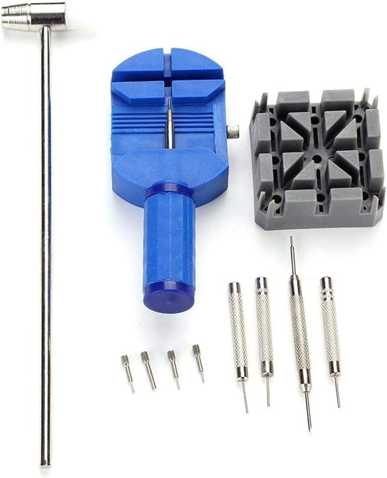 SALAKA 11 Piezas Correas de Reloj Herramientas Kit de Herramientas de reparación de Relojes Profesionales Herramienta de reparación de removedor de pasadores de Enlace para relojeros
