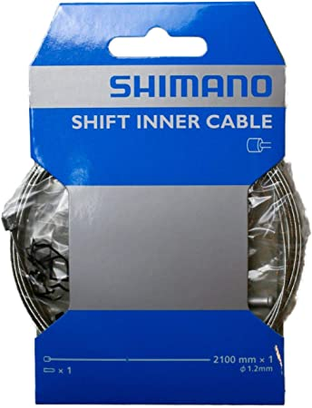 SHIMANO ZINC 2100MM BICYCLE INNER GEAR SHIFTER DERAILLIEUR CABLE--SINGLE
