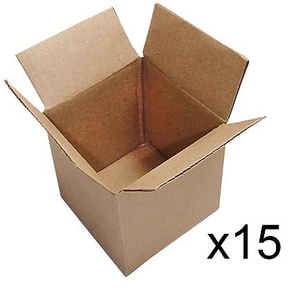 15 cajas de envío para envíos de 4 x 4 x 4 x 4: Amazon.es ...