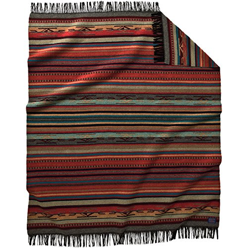 Pendleton Garnet Grey Chimayo Wool Throw