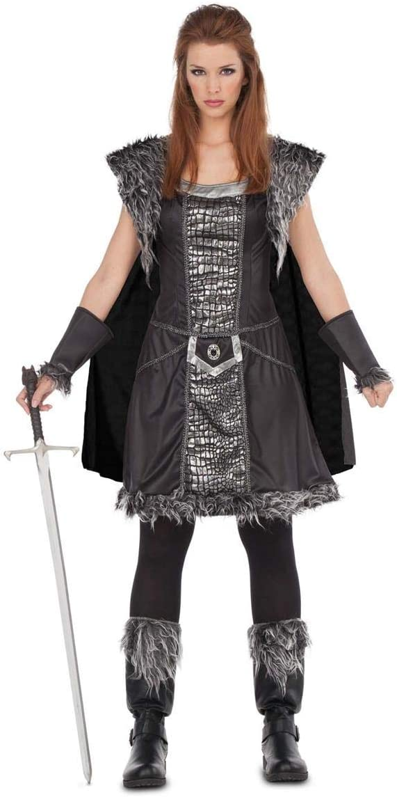 My Other Me Disfraz de Guerrera del Norte para Mujer: Amazon.es ...