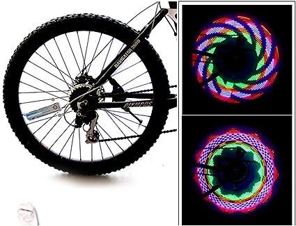 TriLance 2 Pcs LED Roue Lumi/ères Etanche IP65 Rayons de Roue V/élo pour VTT VTC Bicyclette Adultes et Enfants D/écoration de Roue de V/élo Eclairage V/élo Lampe /à LED /à N/éon /à Pneus