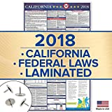 2018 California Labor Law Poster - State & Federal Compliant - OSHA Approved - Laminated 39'' x 24''