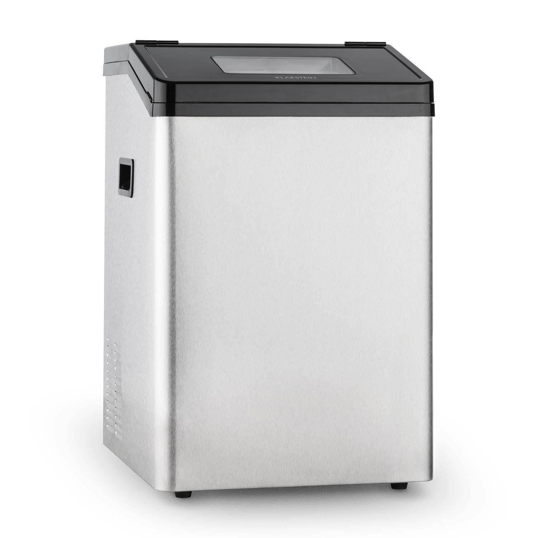 Klarstein Powericer ECO 3 Machine à glaçons de 450W (réservoir de 3kg, max. 30kg/jour, 2 tailles de glaçons, auto-nettoyant) - acier inox