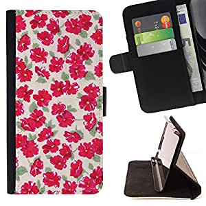 Jordan Colourful Shop - flowers wallpaper vintage pink For Sony Xperia Z2 D6502 - Leather Case Absorci???¡¯???€????€????????&ce