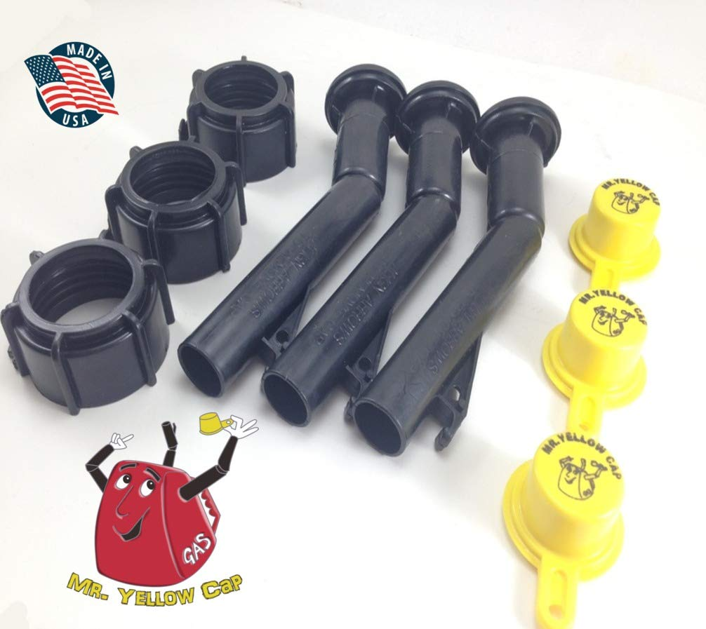 """3 NEW Blitz Gas Can Spouts Rings /& /""""Packs/"""" Replacement Vintage 900092 900302"""