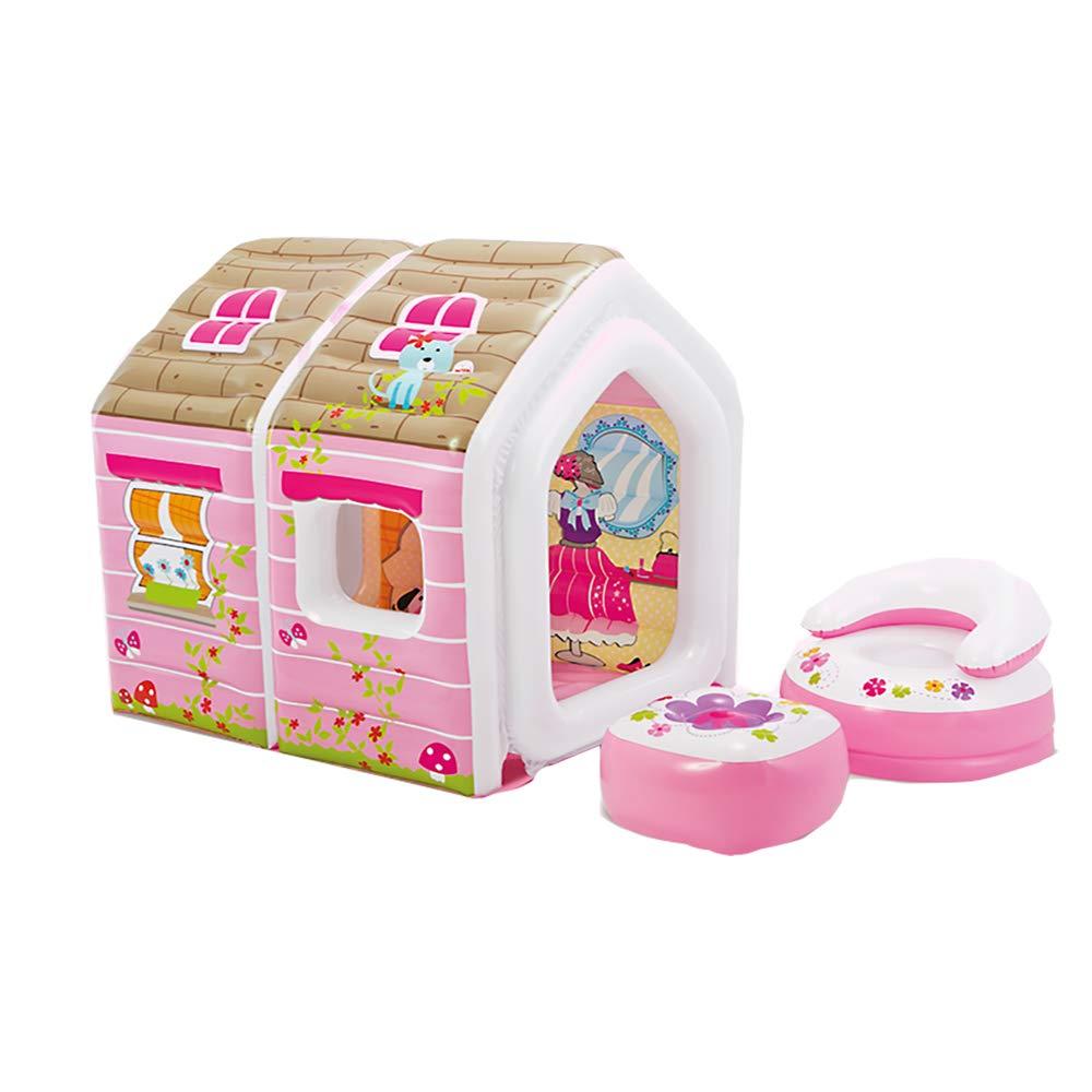 子供のプラスチック製の膨脹可能なテントの男の子の女の子の屋内および屋外のおもちゃの家のゲームのテント B07RJS2QY4 - 124*109*122CM マリンボールと空気ポンプを含む 124 pink*109*122CM pink B07RJS2QY4, ヨシオカマチ:6492f6a9 --- gamenavi.club