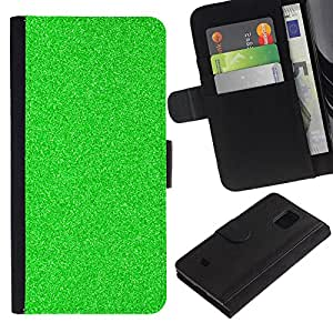 APlus Cases // Samsung Galaxy S5 Mini, SM-G800, NOT S5 REGULAR! // Verde escarcha Noche Visión estático Spec Op // Cuero PU Delgado caso Billetera cubierta Shell Armor Funda Case Cover Wallet Credit Card