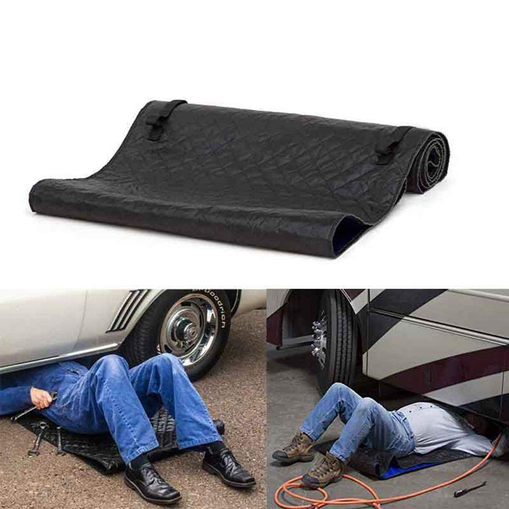 KOBWA Creeper Pad, Car Repair Magic Creeper Mat, Black Automotive Creeper Rolling Pad for Working On The Ground, 28x60 Inches