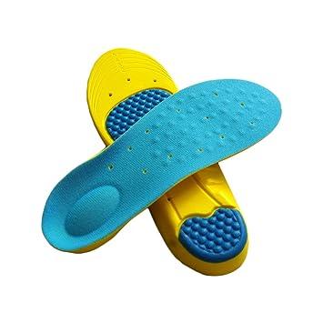 sufely® Espuma de poliuretano plantilla & # xFF1B; absorbente, transpirable Plantilla & # xFF1B; Sport plantillas de amortiguación & # xFF1B; de masaje. Azul Red, Navy Blue, Pink, Green Talla:doble