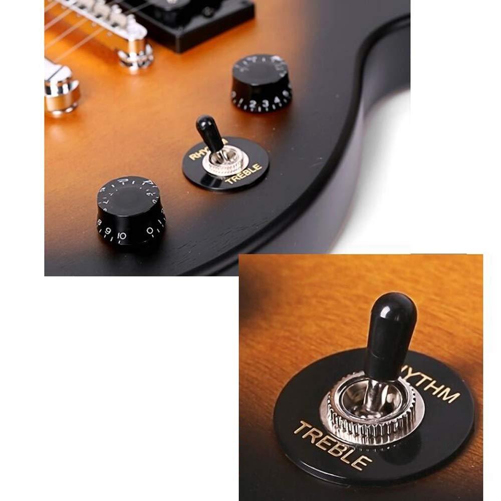Miiliedy Guitarra eléctrica multicolor mate Principiantes profesionales Rendimiento Heavy Metal Rock Roll Blues Música popular Conjunto de guitarra ...