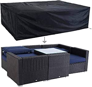 """PHI VILLA Outdoor Patio Sofa Covers, Waterproof Outdoor Furniture Cover All Weather Protection,85.5"""" L x 60"""" W x 26.4"""" H"""