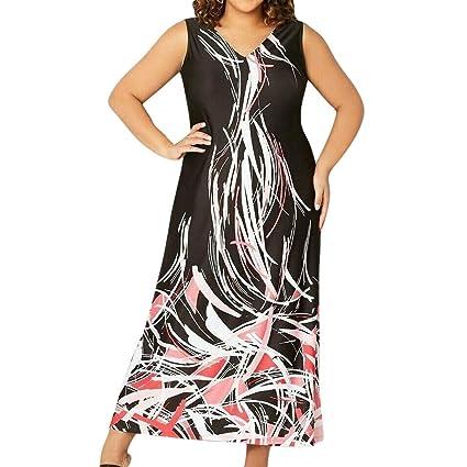 Amazon.com : Super Plus Size Dress for Women Casual Boho V ...