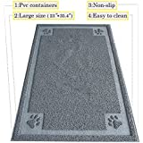"DIJOQU Litter Mat 35"" x 24"" Cat Litter Mat, Traps Messes, Easy Clean, Durable, Non Toxic Trapper Rug - Litter Box Mat, Cat Mat, Cat Litter Mat"