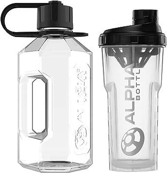 Alpha Bottle XL (1,6 L) o XXL (2,4 L) botella de agua + 750 ...