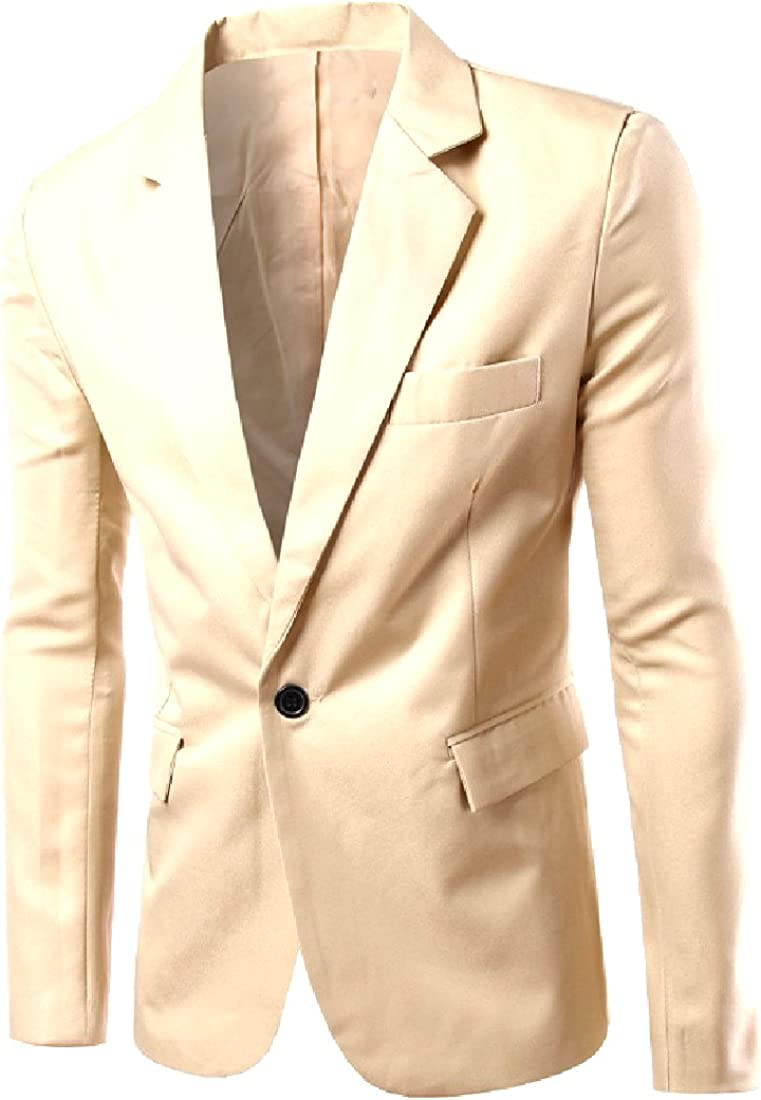 Coolred Men One Button Relaxed Fit Blazer Regular Fit Suit Coat Tops