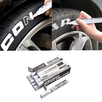 AITOCO 10 UNIDS A Prueba de Agua de Neumáticos de Pintura Rotuladores, Blanco Rotulador de