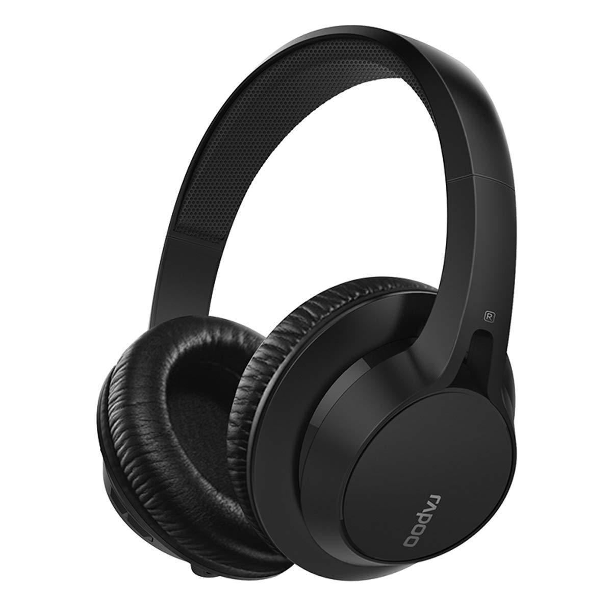 Auriculares Rapoo Bluetooth Con Cable/inalambrico Modes Con Hidden Mic Recargable Hi-fi Stereo Of Soft Earpads Para Wind