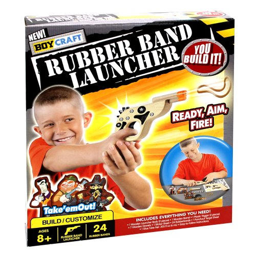 Boy Craft Rubber Band Launcher Kit (Making Kit Marshmallow)