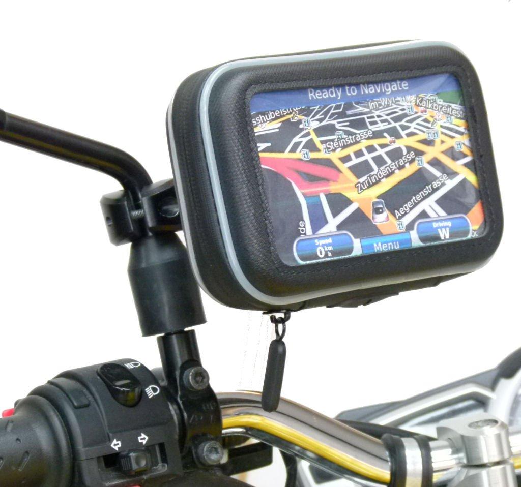 buybits MOTO IMPERMEABILE SCOOTER MOTORINO SPECCHIETTO supporto per Garmin Nuvi 42LM 31936