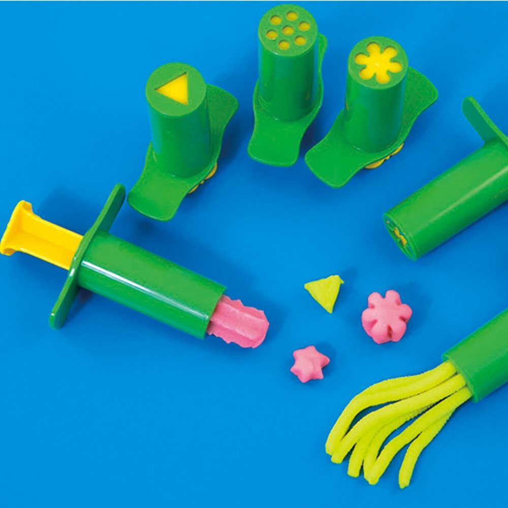Autumn Water 2pc Heart/Flower/Noodles Syringes Playdough light Clay Plasticine Tool Molds Kids Intelligent Toys for sculpting Resin Molds
