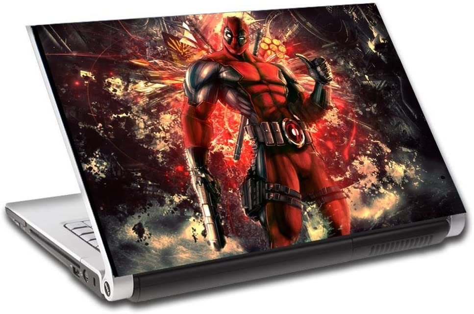 Deadpool Personalized LAPTOP Skin Vinyl Decal Sticker WITH YOUR NAME Marvel L113-14""