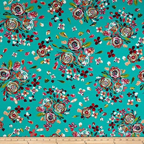 Art Gallery Fabrics Fusion Jersey Knit Swifting Boho Fabric by The Yard, Flora