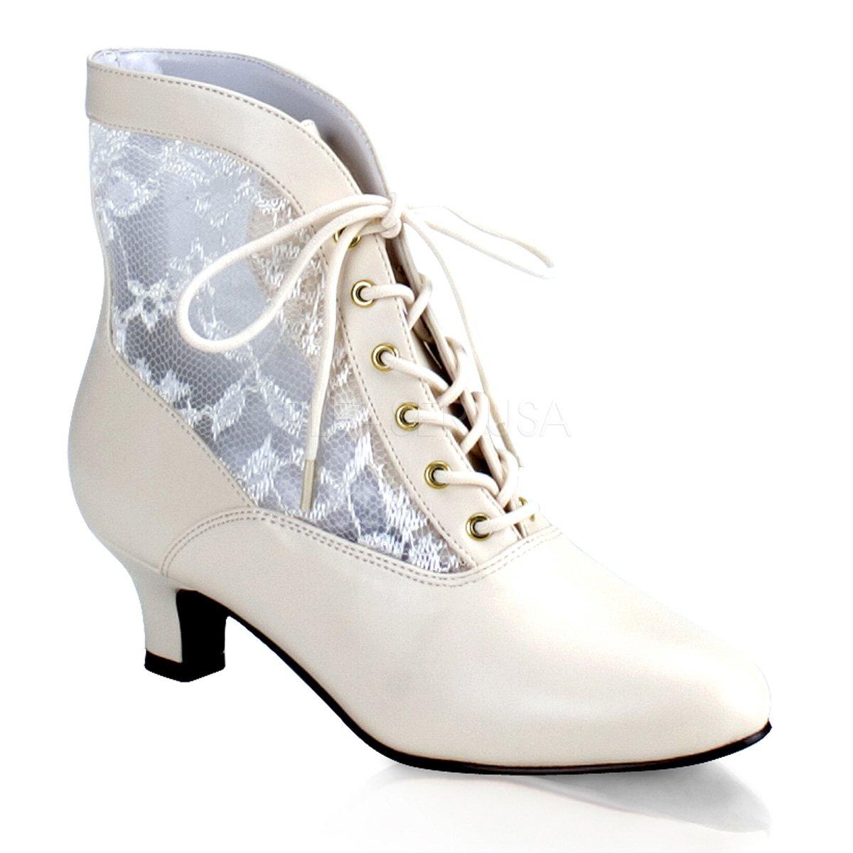 Funtasma Schuhe für Grand Dames: Dame-05 Kostümschuhe  38 EU Elfenbein
