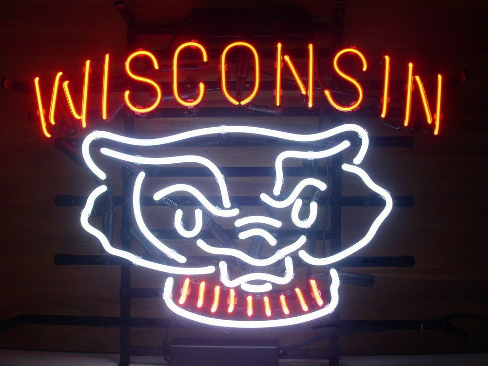 """Urby® 24""""x20"""" Larger Sport Teams WB Beer Bar Neon Sign 3-Year Warranty-Best Choice!"""