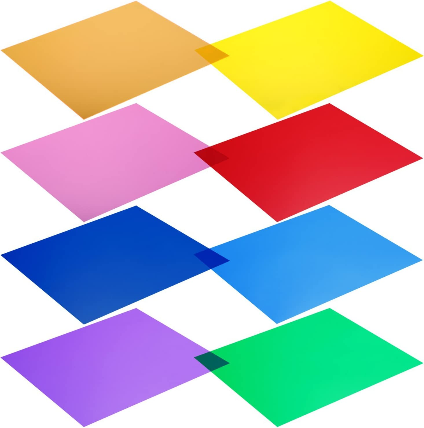 Neewer - Kit de 8 filtros de Colores para Luces de Estudio (12x 12