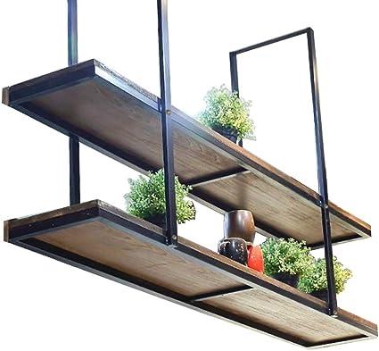 Bnxgj Houten Opgeschort Plafondrek Wijnrek Opknoping Plafond Partitie Planken Voor Muren Dvd Wandplank Muurbeugel Plank Wit Wandplank Unit Maat 120 30 80cm Amazon Nl