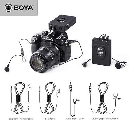 BOYA BY-WM24G - Micrófono inalámbrico para cámara Canon Nikon ...
