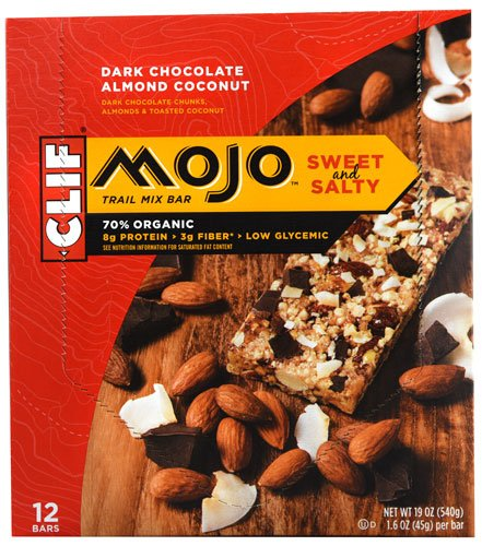 Clif MojoTM Sweet and Salty Trail Mix Bar Dark Chocolate Almond Coconut -- 12 Bars ()