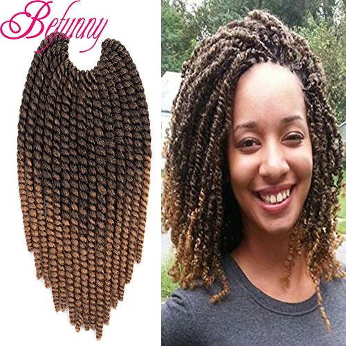 Befunny 8inch 6packs Ombre Havana Twist Crochet Hair Medium Import