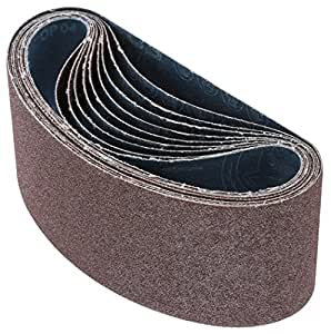 Grizzly T24543 3-Inch by 18-Inch Sanding Belt, 60 Grit, 10-Pack