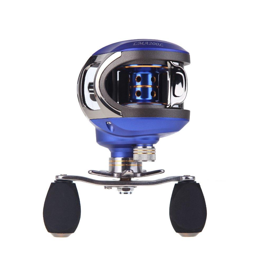 EverTrust ( TM )新しいlma200 10 + 1bb玉軸受左手Carp餌鋳造釣りリール高速BaitcastingリールPesca 6.3 : 1-blue   B00UWWF6YQ
