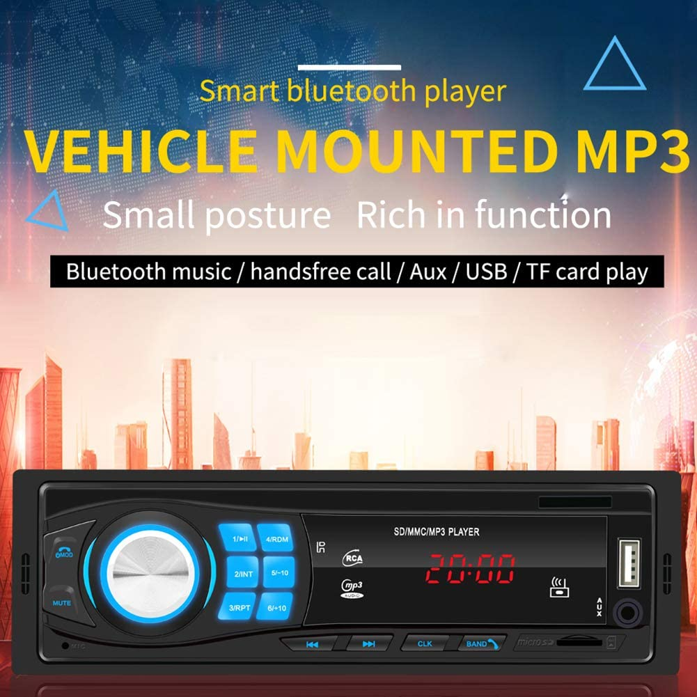 Alician Auto SWM-8013 1DIN12V Bluetooth Stereo Auto Radio Car Radio in-Dash FM Aux Input Receiver SD USB MP3 MMC WMA Car Audio Player