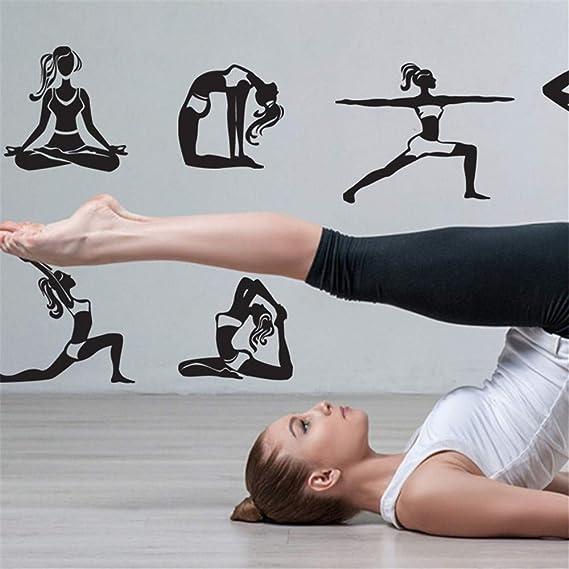 WALSTICKEL Pegatinas De Pared Mandala Yoga Sobre Meditación ...