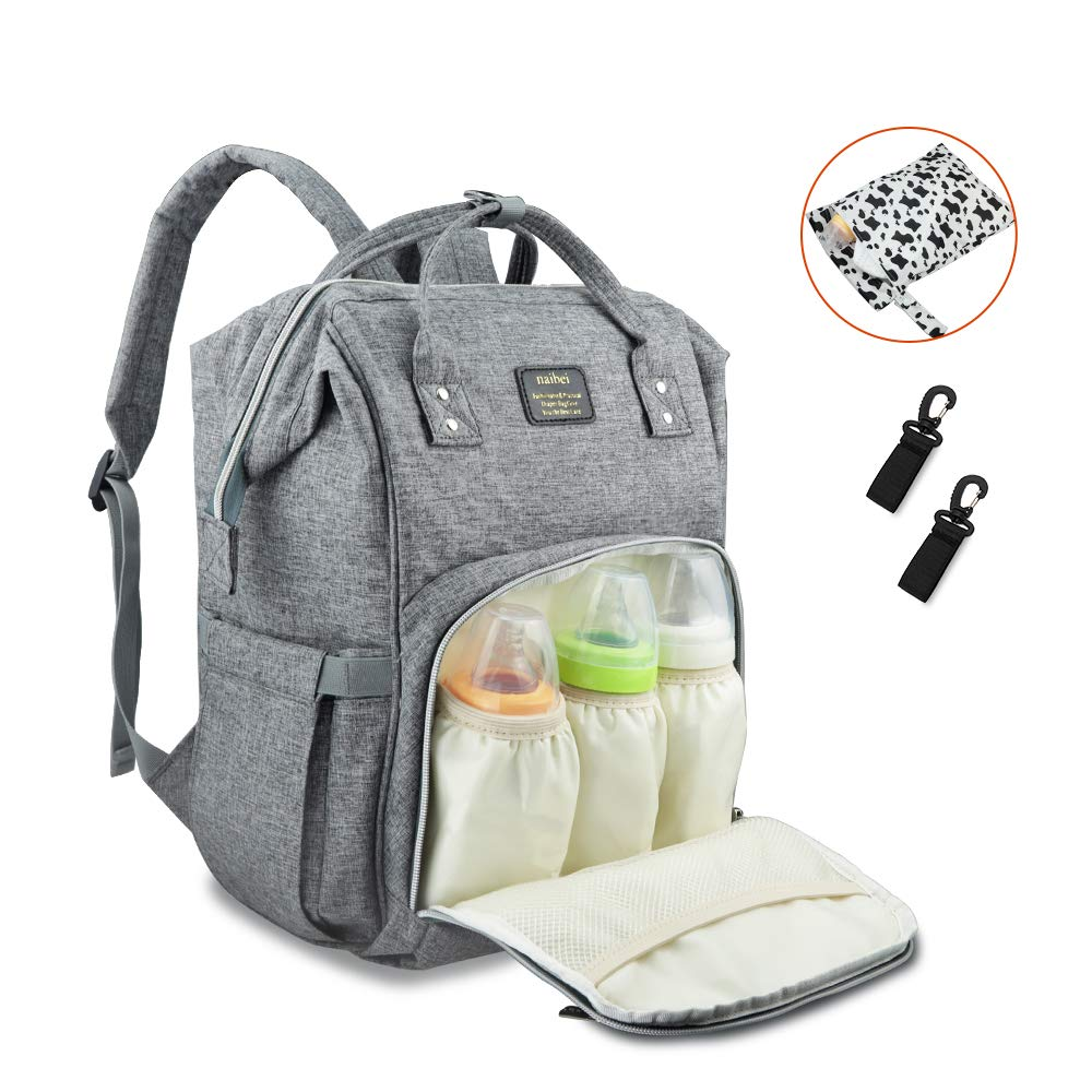 f0234bfc5b618 Amazon.com : DILISENS Diaper Bag Backpack, Multi-Functional Maternity Nappy  Bags Waterproof Large Capacity Travel Backpack with Insulated Pockets for  Baby ...