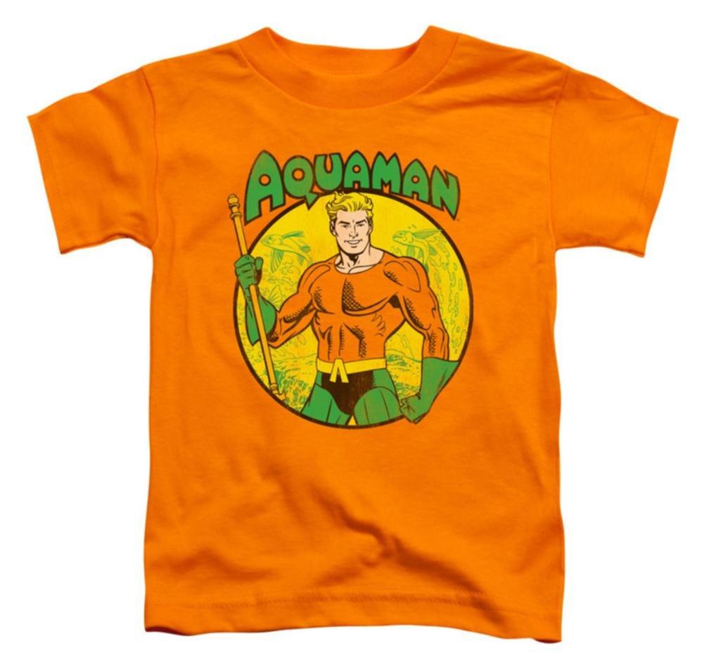 DC Comics Aquaman Mens & Youth Orange S/S Cotton T-Shirt