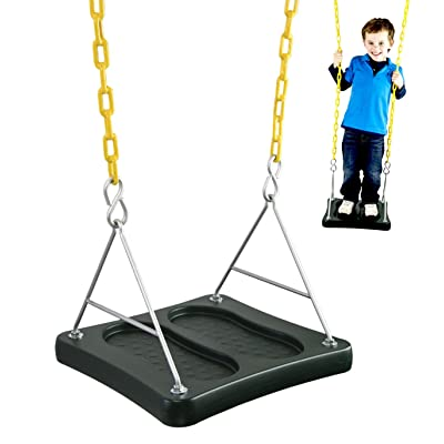 Squirrel Products Stand & Swing- Swing Set Accessories Swing Seat Replacements- Outdoor Activities for Kids Ages 3 Years and Older: Toys & Games