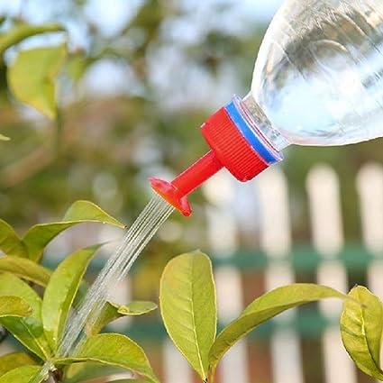 5 piezas de riego para botellas, aspersor de riego para plantas de plástico PVC para
