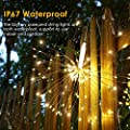 GDEALER 4 Pack 8 Modes 50 LED 16.4ft Waterproof Fairy Lights Battery Operated Warm White