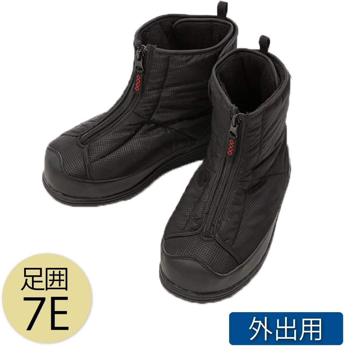 介護シューズ ブーツ 介護靴 外出用 あゆみ シニア 防寒ワイドブーツ 7E 黒 5020