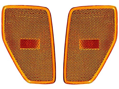 Replacement For Hummer H3 06-09 Front Side Marker Lights Lamps Left Right Replacement Pair