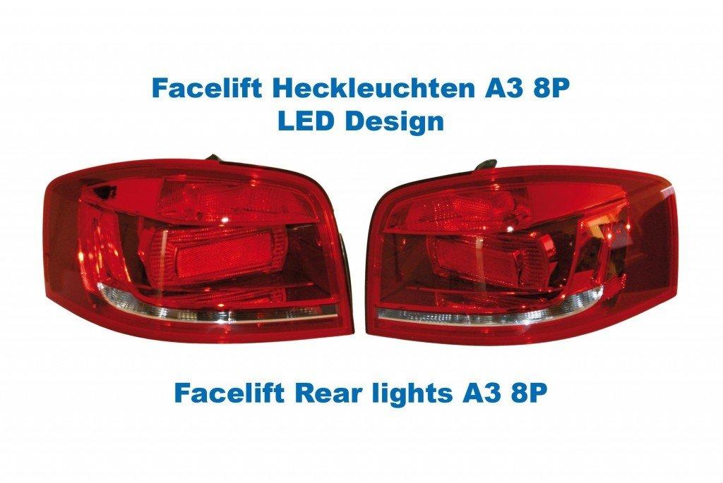 Kufatec Facelift - Faros traseros para LED de diseño original: Amazon.es: Coche y moto