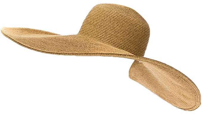 1117eb86 RPI Huge Straw Floppy Sun Hat, Super Wide Brim Beach Hat, SunBlocker Hat,