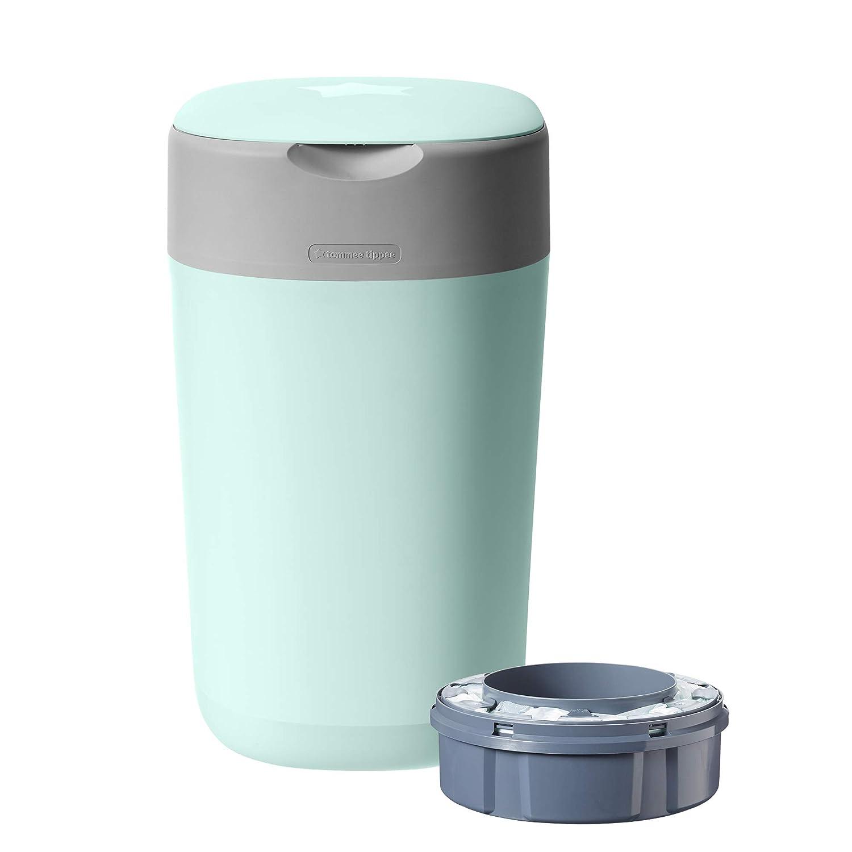 Green Tommee Tippee Twist and Click Advanced Nappy Disposal Sangenic Tec Bin