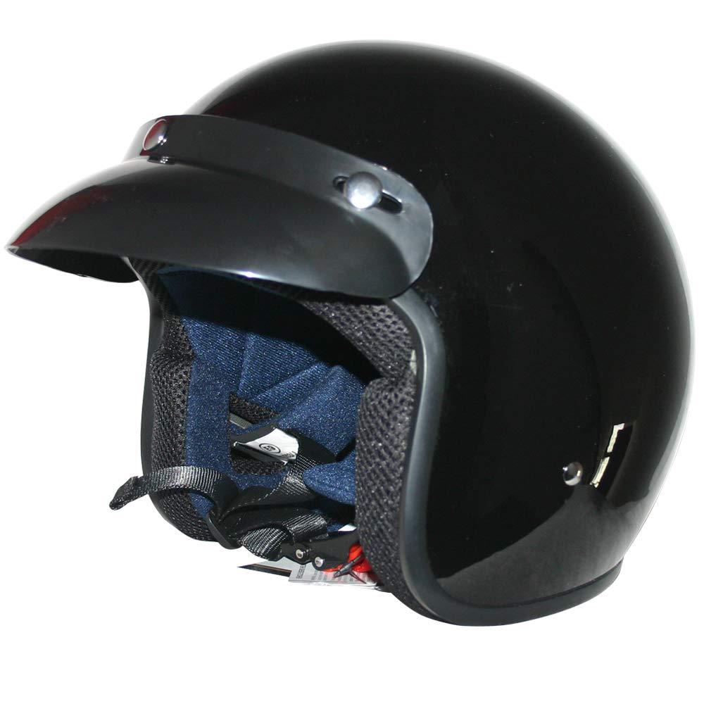 Leopard LEO-604 Scooter Motorcycle Motorbike Open Face Crash Helmet Road Legal 59-60cm Burgundy L